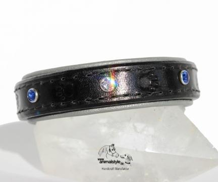 Armband Black Silver
